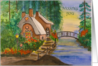 Holiday Cottage - Missing You card
