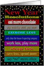 Funny New Year Resolutions card