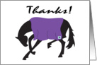Bowing Horse Thank You card