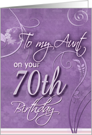 Purple Pizzazz - for 70 year old Aunt card