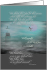 Sympathy, Father, Lighthouse in Mist, Sunrise With Duck Flight card