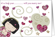 leap year proposal card