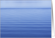 Blank Note Cards - Blue Water Ripples card