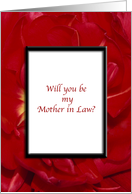 Will You Be My Mother in Law Red Tulip Flower card