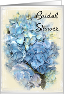 Bridal Shower Invitation - Blue Hydrangea card