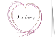 I'm Sorry - Pink Fractal Heart card