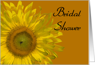 Yellow Sunflower on Orange Bridal Shower Invitation card