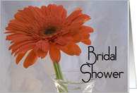 Bridal Shower Invitation Orange Gerbera Daisy card