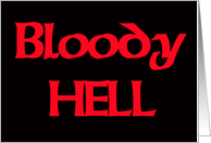 Bloody Hell: text image card
