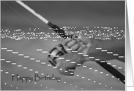 Happy Birthday: fisherman's hands card