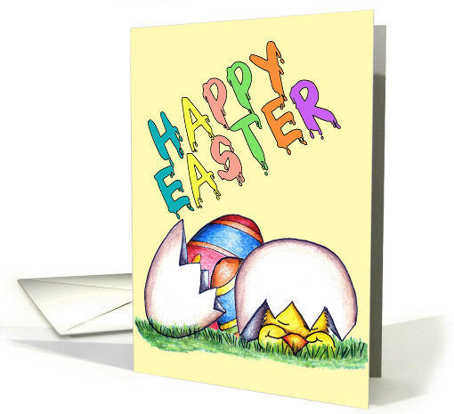 Happy Easter Chick card (138575)
