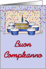 Cupcake Birthday-Italian card