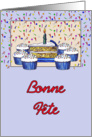 Cupcake Birthday-French Canadian card