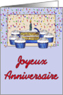 Cupcake Birthday-French card