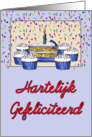 Cupcake Birthday-Dutch card