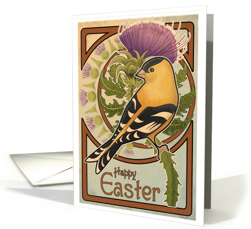 The Goldfinch and Thistle - Easter card (142154)