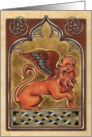 Medieval Lion - Art Card