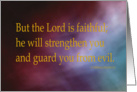 Console Series - 2 Thessalonians 3:3 card