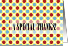 Fun Dots - Special Thanks card