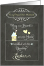 Happy Easter to my niece & her husband, chalkboard effect card