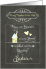 Easter Blessings to my nephew and his wife, chalkboard effect card