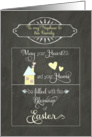 Easter Blessings to my nephew and his family, chalkboard effect card