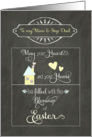 Easter Blessings to my mom and step dad, chalkboard effect card