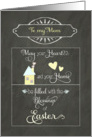 Easter Blessings to my mom, chalkboard effect card