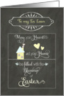 Easter Blessings to my In Laws, chalkboard effect card