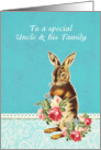 Happy Easter to my uncle and his family, vintage bunny card
