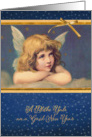 Merry Christmas in Scots, vintage angel card