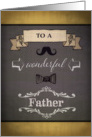 To my Dad, Happy Father's Day, retro, banner and ornaments card
