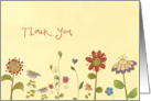 Thank you, Employee Appreciation card, little flowers card