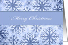 merry christmas, business Christmas card, blue snowflakes card