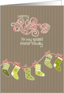 Merry Christmas to my foster family, stockings, card