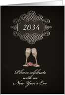 You are invited, Customizable Year, New Year's Eve Party, card
