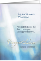 Custom Personalized Card, Congratulations on your ordination, cross card
