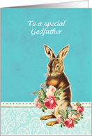 Happy Easter to my godfather, vintage bunny card