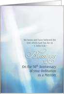 Blessings, 50th Anniversary, Ordination Minister, cross card