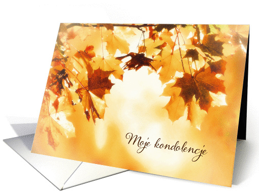 With deepest Sympathy in Polish, Autumn leaves card (1286890)