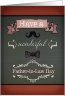 Have a wonderful Father-in-Law Day, retro card