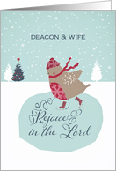 For deacon and his wife, Rejoice in the Lord, Christmas card