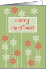 seasons greetings graphic floral snowflakes card