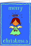 merry christmas angel green card
