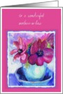 wonderful mother in law purple anemones card