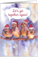 Let's get together again, Christmas family reunion invitation card