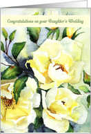 Congratulations on your Daughter's Wedding, Watercolor White Roses card