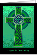 Happy St. Patrick's Day, Green Celtic Cross card