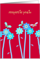 recuperate pronto butterflies and flowers card