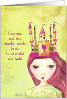 italian my home is my castle illustration card